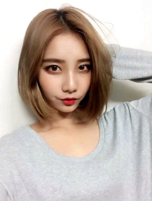inspirations of cute korean hairstyles for short hair