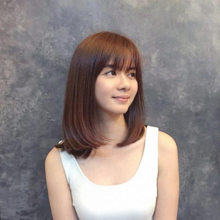 Sunshiny Medium Asian Hairstyles Regarding Medium Asian Hairstyles (View 18 of 20)