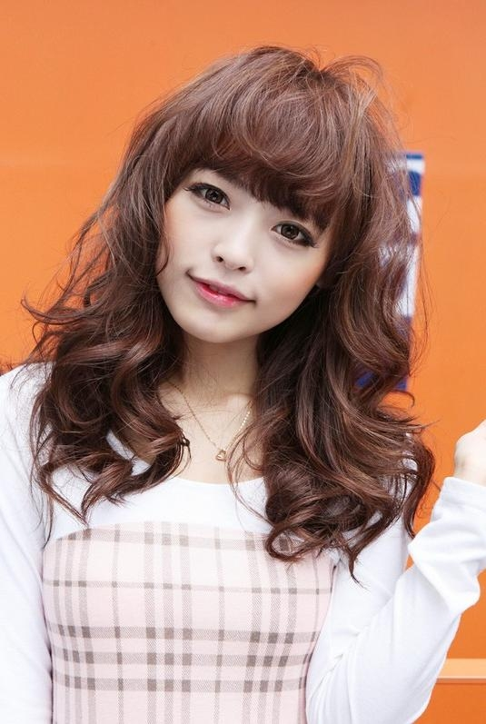 Sweet Long Japanese Hairstyle For Girls – Hairstyles Weekly Intended For Cute Asian Haircuts With Bangs (View 20 of 20)