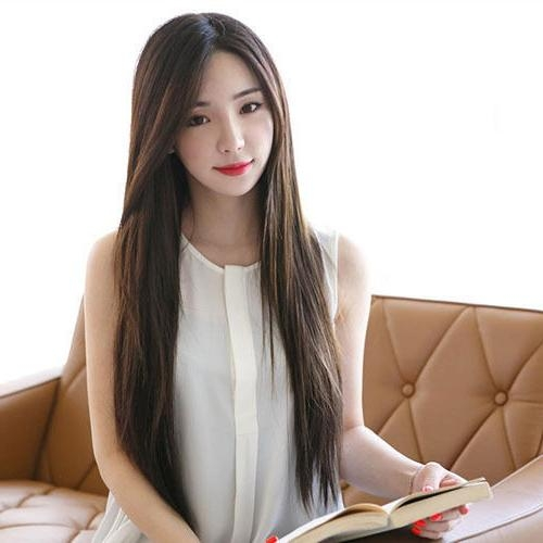 Synthetic Hair Korean Wigs Women Party Long 70Cm Straight More Inside Korean Hairstyles For Party (View 16 of 20)