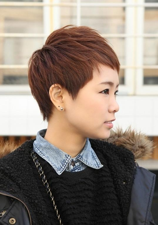 Trendy Short Layered Boyish Hair Style – Boyish Cut For Women With Very Short Asian Hairstyles (View 20 of 20)