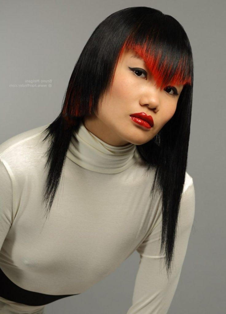 Women Hairstyle : Haircuts For Long Hair Asian Hairstyles Trends With Asian Haircuts With Bangs (View 20 of 20)