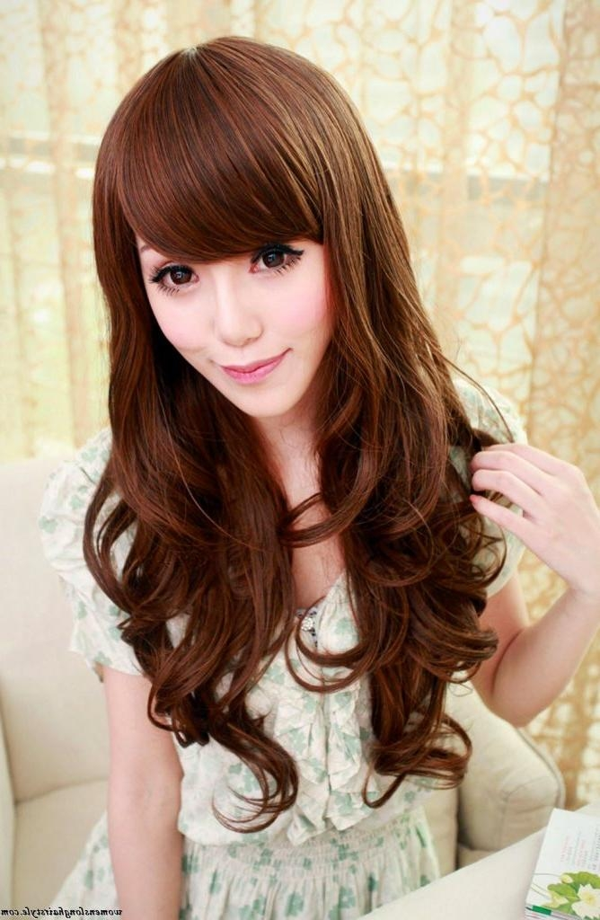 Women Hairstyle : Long Hair Asian Hairstyles Girls Roll Hairstyle Inside Chinese Hairstyles For Long Hair (View 7 of 20)