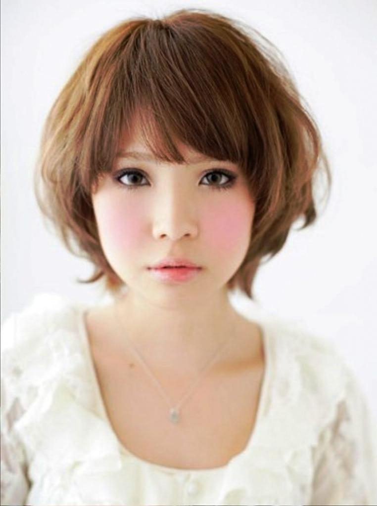 Women Hairstyle : Short Asian Hairstyles For Round Faces Images Pertaining To Asian Hairstyles For Round Faces (View 13 of 20)