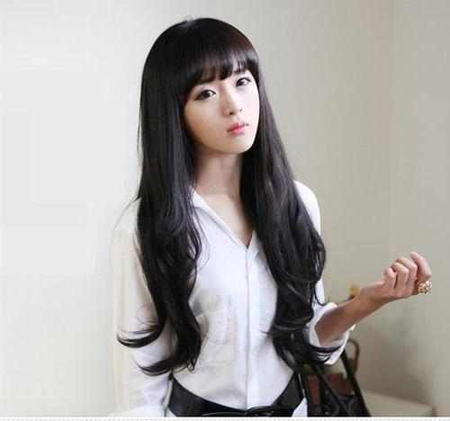 Photo Gallery Of Asian Hairstyles With Bangs Viewing 20 Of 20 Photos