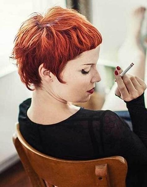 10 Chic And Showy Red Pixie Hairstyles: # (View 1 of 20)