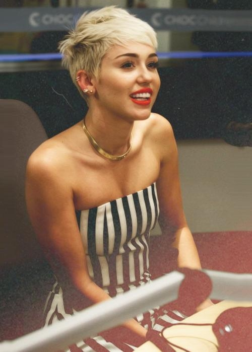 10 Exotic Miley Cyrus Hairstyles To Rock In 2018 Regarding Recent Miley Cyrus Pixie Haircuts (View 1 of 20)