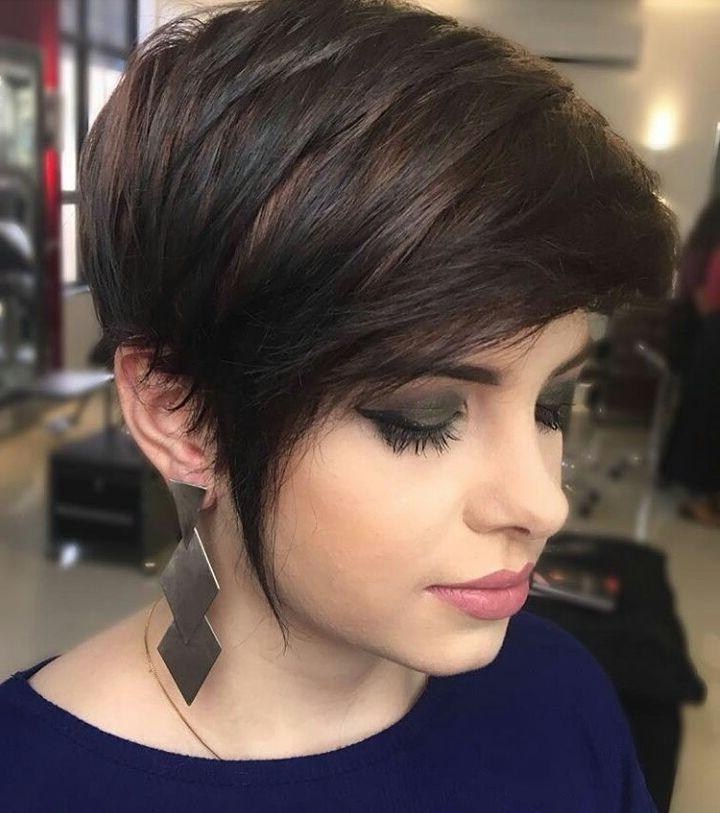 10 Short Hairstyles For Women Over 40 – Pixie Haircuts 2018 With Regard To Latest Brunette Pixie Haircuts (View 1 of 20)