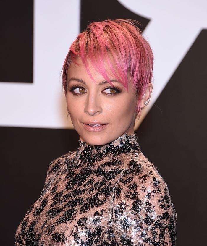 10 Stars With Pixie Haircuts: Short Hair On Celebrities With Regard To 2018 Pink Pixie Haircuts (View 20 of 20)