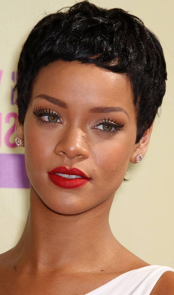 10 Trendy Rihanna's Short Hairstyles With Most Up To Date Rihanna Pixie Haircuts (View 1 of 20)