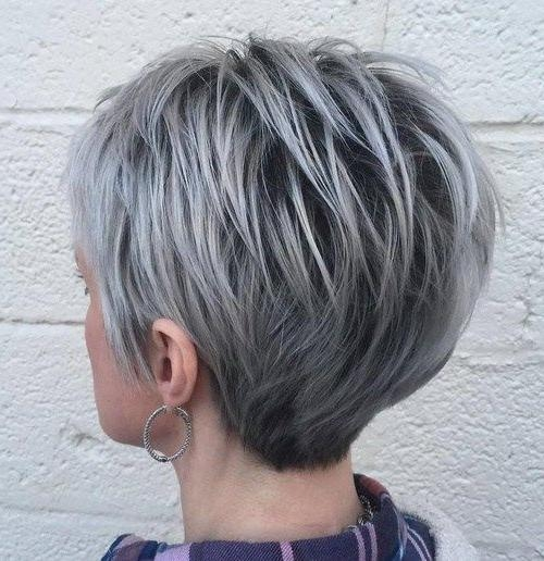 20 Photo of Gray Hair Pixie Haircuts