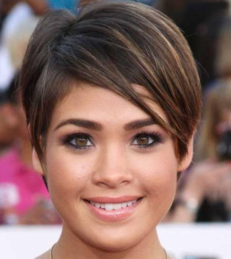 Photo Gallery Of Pixie Haircuts For Fat Faces Viewing 18 Of 20 Photos