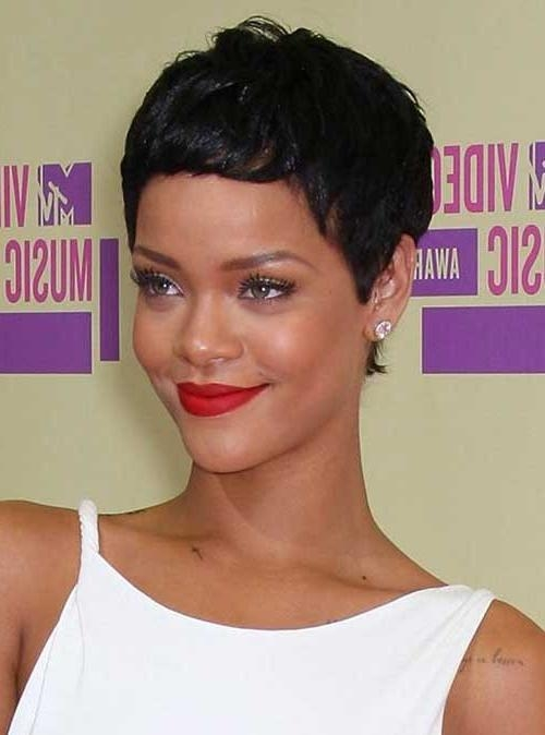 15 Best Rihanna Pixie Cuts – Decor10 Blog Intended For Most Recently Released Rihanna Pixie Haircuts (View 2 of 20)