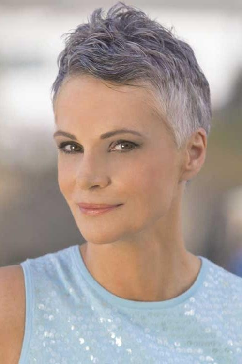 15 Grey Pixie Cuts (View 9 of 20)