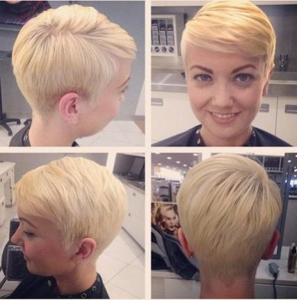 18 Easy Short Hairstyles With Bangs! – Popular Haircuts Pertaining To Popular Pixie Haircuts With Long Side Swept Bangs (View 1 of 20)