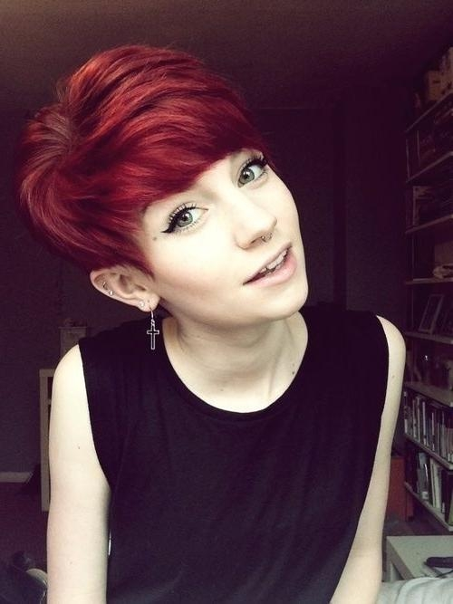 18 Short Red Haircuts: Short Hair For Summer&winter – Popular Haircuts For Well Known Red Pixie Haircuts (View 2 of 20)