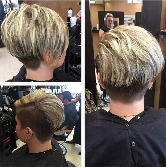 Photo Gallery Of Short Stacked Pixie Haircuts Viewing 10 Of 20 Photos