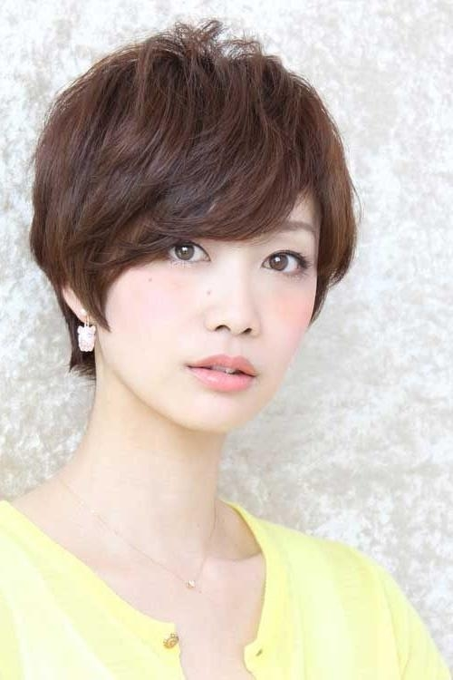 20 Popular Short Hairstyles For Asian Girls – Pretty Designs For Famous Pixie Haircuts For Asian Round Face (View 3 of 20)