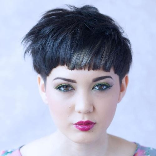 20 Stunning Looks With Pixie Cut For Round Face Regarding Most Current Blunt Pixie Haircuts (View 1 of 20)