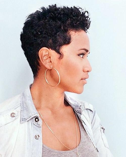 20 Trendy African American Pixie Cuts 2017 – Pixie Cuts For Black Throughout Current Naturally Curly Pixie Haircuts (View 10 of 20)