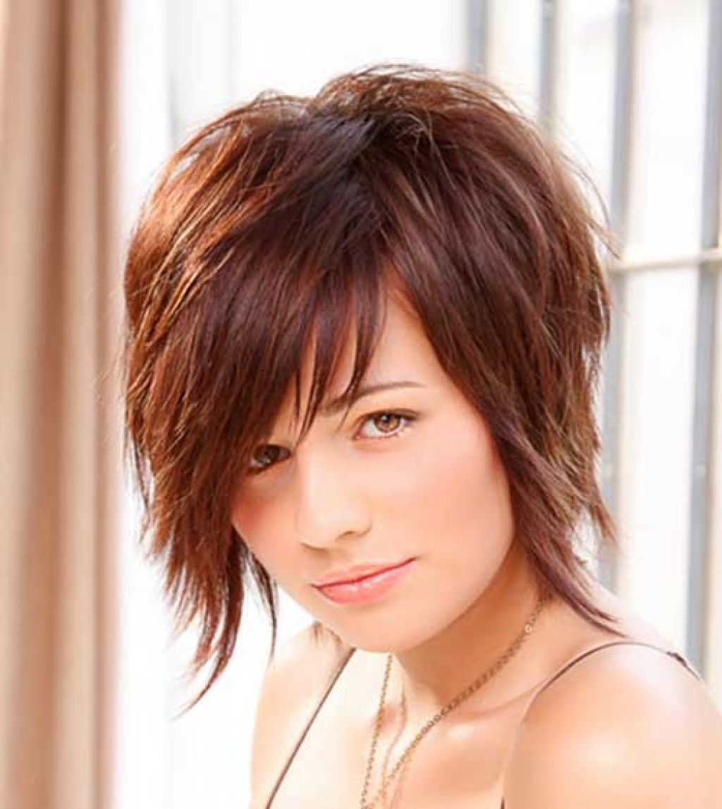 2015 Short Hairstyles Round Face Simple Styled Hairdo This Style Pertaining To Trendy Shaggy Pixie Haircut For Round Face (View 1 of 15)