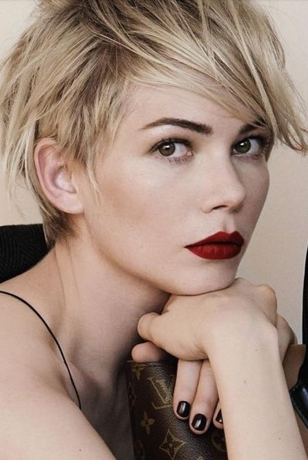 2017 Medium Pixie Haircuts In Trendy Pixie Cuts For  (View 3 of 20)