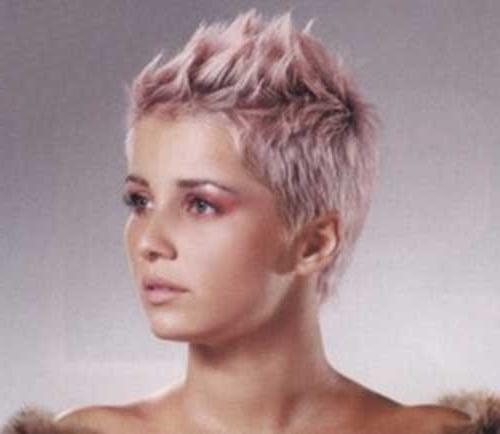2017 Pink Pixie Haircuts For 15 Short Blonde And Pink Hairstyles (View 15 of 20)