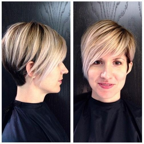 2017 Pixie Haircuts For Long Faces Intended For Short Hairstyles For Women: Layered Straight Cut With Long Side (View 2 of 20)
