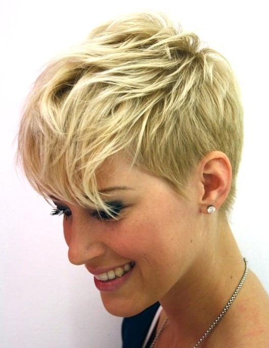2017 Pixie Haircuts Styles For Thin Hair Inside Unique Pixie Cut Hairstyles For Thin Hair Long Pixie Hairstyles (View 5 of 20)