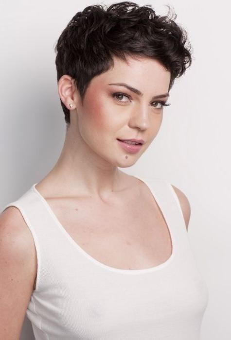 Featured Photo of Short Pixie Haircuts For Curly Hair