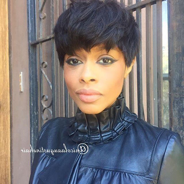 2018 Black Women Short Pixie Haircuts Pertaining To African American Short Pixie Haircut For Black Women – Pretty Designs (View 14 of 20)