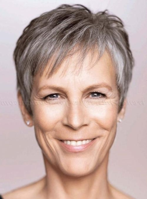 2018 Jamie Lee Curtis Pixie Haircuts Within Short Hairstyles Over 50 – Jamie Lee Curtis Short Grey Hairstyle (View 4 of 20)