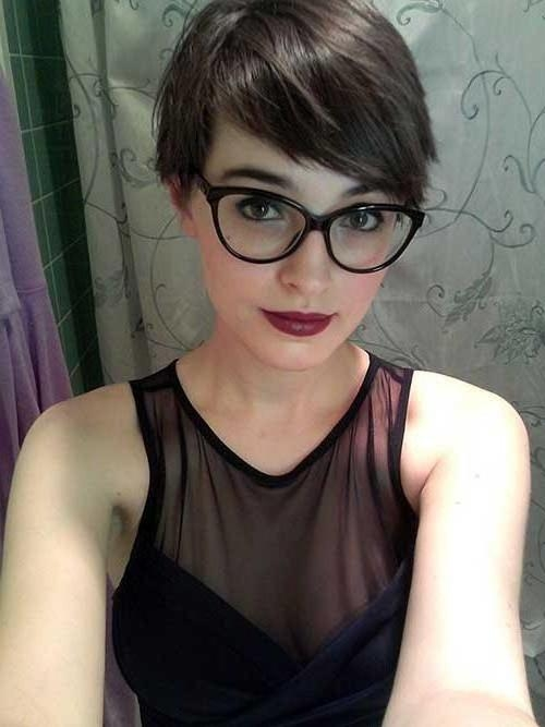2018 Popular Short Haircuts With Glasses With Well Liked Pixie Haircuts With Glasses (Gallery 20 of 20)