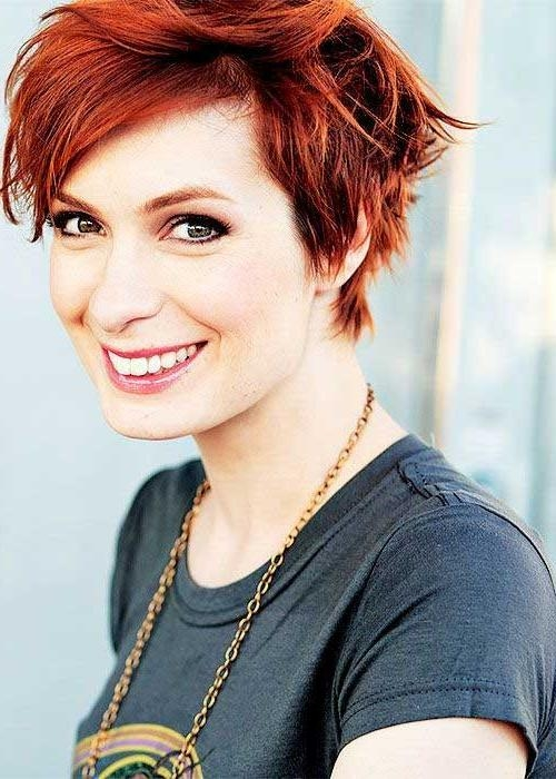 2018 Red Pixie Haircuts Pertaining To Cute Short Pixie Haircuts (View 5 of 20)