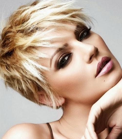 2018 Short Choppy Pixie Haircuts Intended For Short Choppy Pixie Hairstyles – Hairstyles Blog (View 2 of 20)