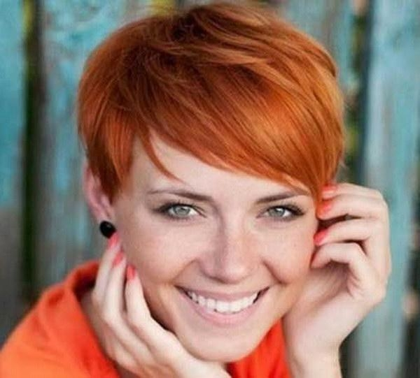 Photo Gallery Of Short Red Pixie Haircuts Viewing 18 Of 20 Photos
