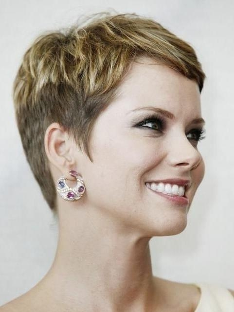 25 Easy Short Hairstyles For Older Women – Popular Haircuts Intended For Fashionable Pixie Haircuts For Women (View 10 of 20)