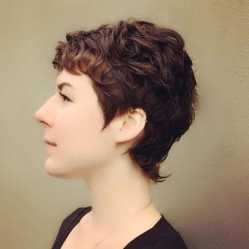 28 Cutest Pixie Cut Ideas Trending For 2018 In Trendy Pixie Haircuts For Curly Hair (View 4 of 20)