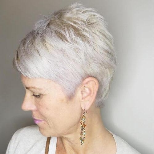 28 Cutest Pixie Cut Ideas Trending For 2018 In Trendy Platinum Pixie Haircuts (View 3 of 20)