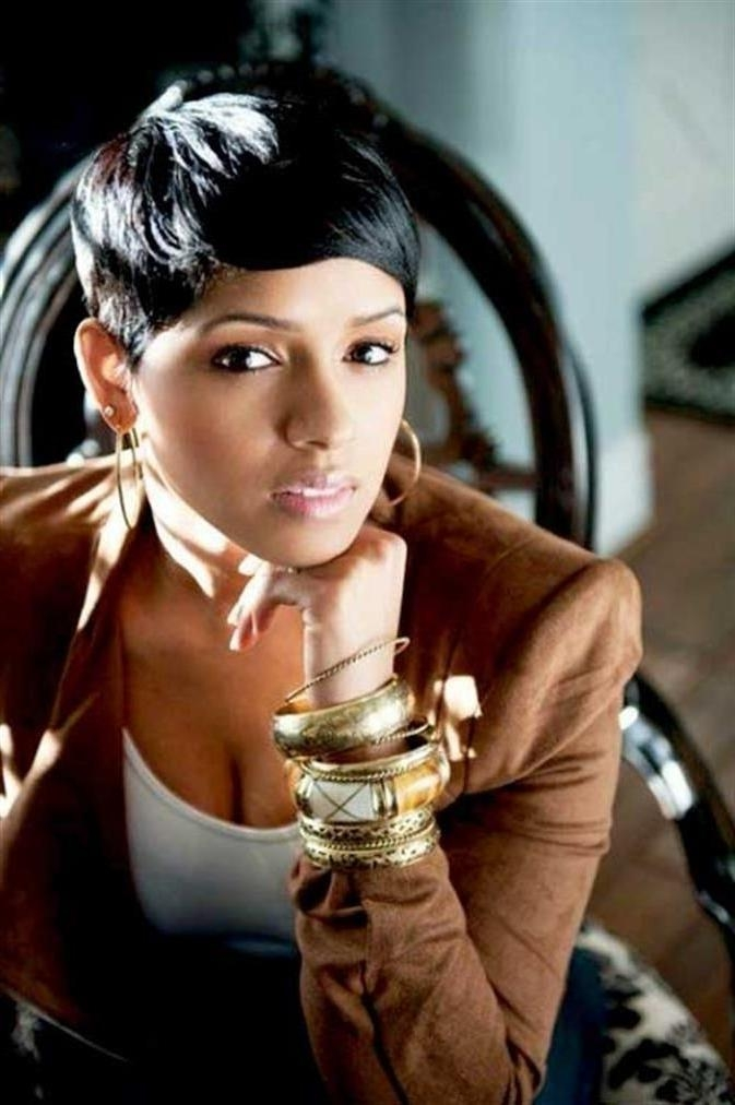 28 Trendy Black Women Hairstyles For Short Hair – Popular Haircuts Inside Latest Black Short Pixie Haircuts (View 4 of 20)