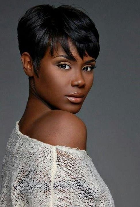 28 Trendy Black Women Hairstyles For Short Hair – Popular Haircuts Pertaining To Latest Black Pixie Haircuts (View 5 of 20)