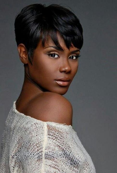 28 Trendy Black Women Hairstyles For Short Hair Popular Haircuts Pertaining To Widely Used Black Women Pixie Haircuts (View 5 of 20)