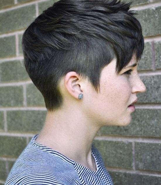 30 Chic Pixie Haircuts: Easy Short Hairstyle Popular Haircuts For With Fashionable Punk Pixie Haircuts (View 6 of 20)