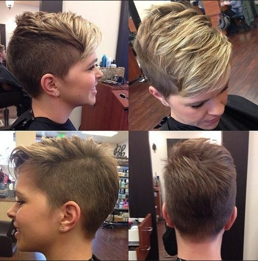 33 Cool Short Pixie Haircuts For 2018 – Pretty Designs For Best And Newest Buzzed Pixie Haircuts (View 5 of 20)