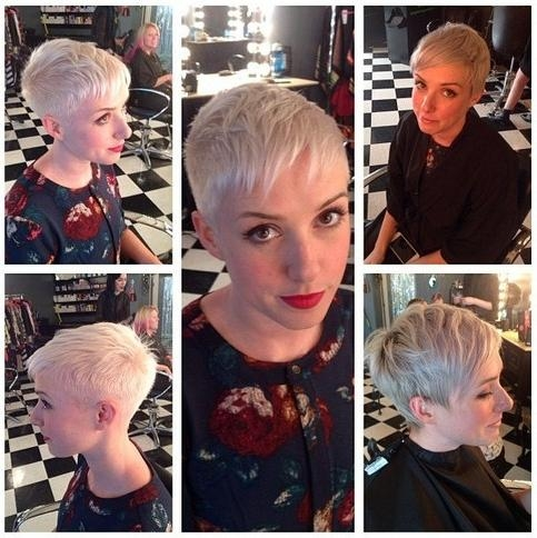 33 Cool Short Pixie Haircuts For 2018 – Pretty Designs In Popular Extremely Short Pixie Haircuts (View 2 of 20)