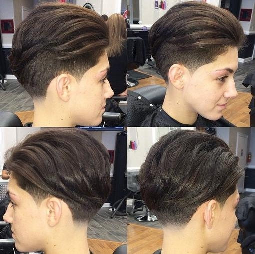 33 Cool Short Pixie Haircuts For 2018 – Pretty Designs Throughout Fashionable Undercut Pixie Haircuts (View 6 of 20)