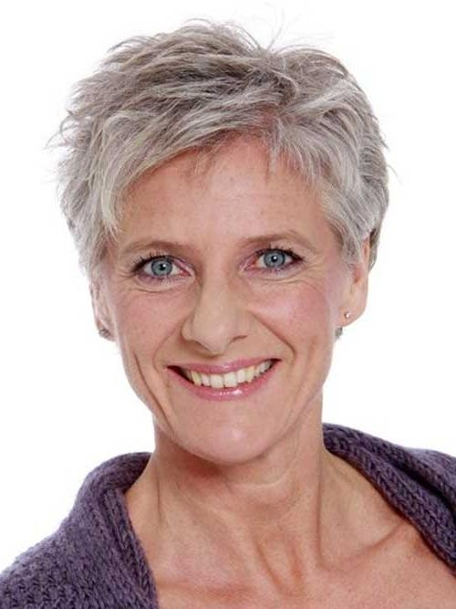 35 Unique Short Grey Haircuts With Regard To Most Current Short Pixie Haircuts For Gray Hair (View 10 of 20)