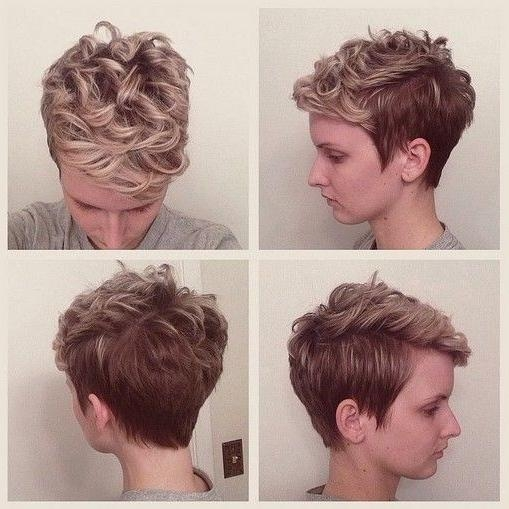 40 Pretty Short Haircuts For Women: Short Hair Styles With Best And Newest Long Pixie Haircuts For Curly Hair (View 5 of 20)