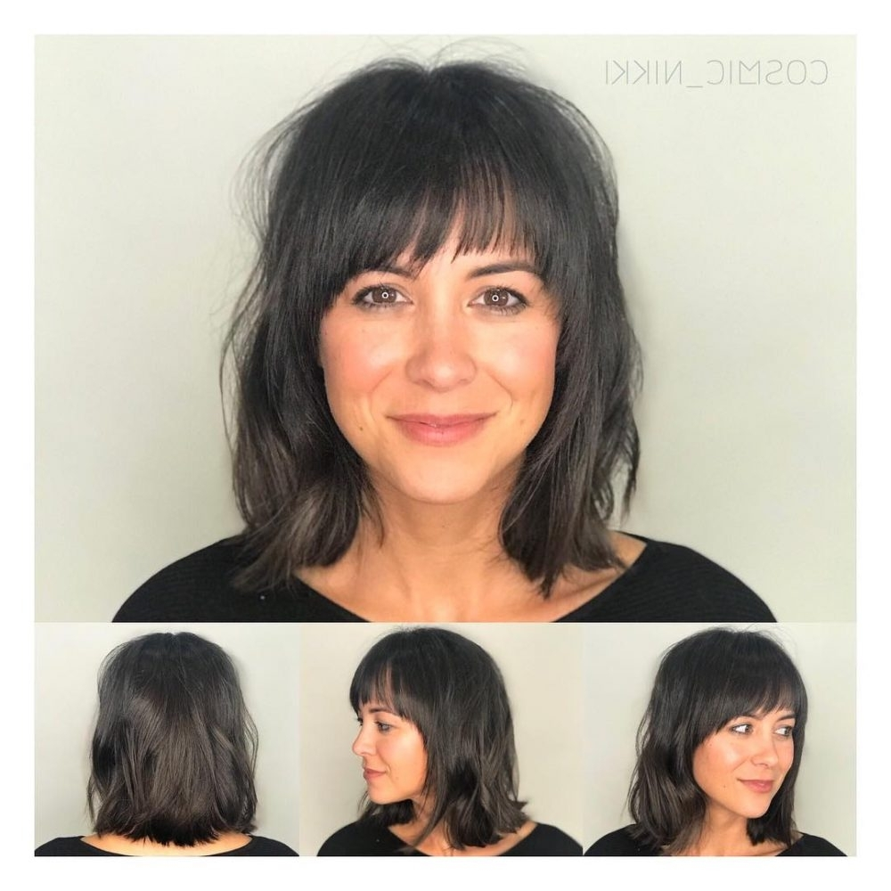 41 Chic Medium Shag Hairstyles & Haircuts For Women 2018 For Fashionable Shaggy Hairstyles With Bangs (View 14 of 15)