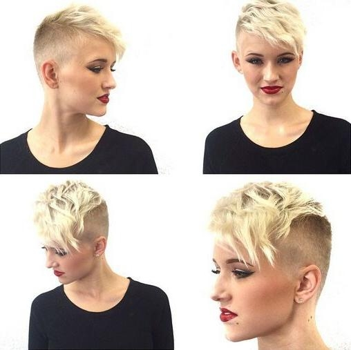 60 Cool Short Hairstyles & New Short Hair Trends! Women Haircuts 2017 For Fashionable Buzzed Pixie Haircuts (View 7 of 20)